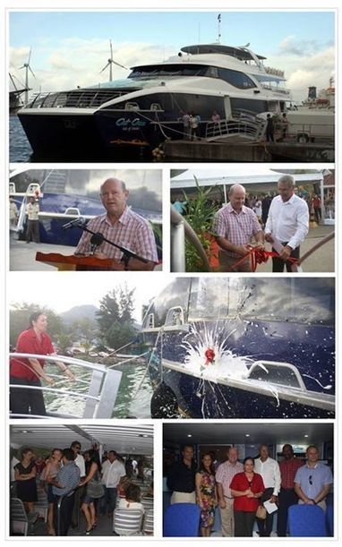 Seychelles launches its biggest and fastest high speed ferry, the Cat Cocos - Isle of Mahe | Seychelles | Scoop.it