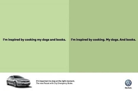 Clever Volkswagen Ads Use Punctuation Marks To Promote Brake Feature - DesignTAXI.com | Universal curiosity, appreciation and imagination. | Scoop.it