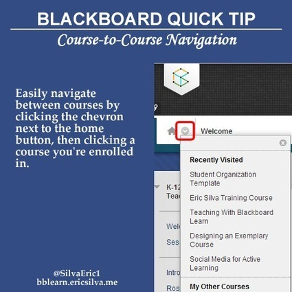 BbLearn Quick Tip: Course-to-Course Navigation | EdTech Connection | Education Technology | Scoop.it