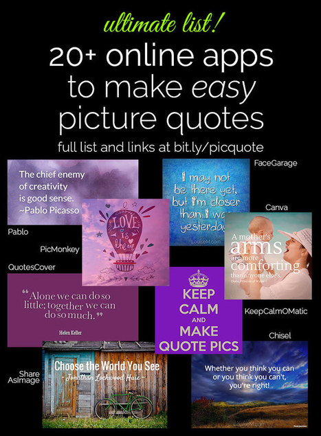 20+ EASY Ways to Make Picture Quotes Online | Teaching English as a foreign or second Language | Scoop.it