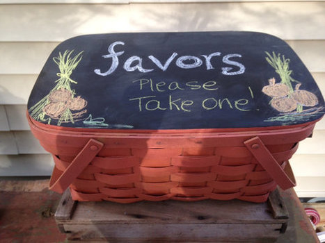 Halloween basket chalkboard lid wedding candy par ilPiccoloGiardino | Candy Buffet Weddings, Events, Food Station Buffets and Tea Parties | Scoop.it