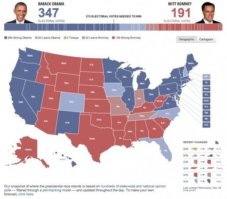 Eight Different Takes on Presidential Election Maps | special purpose maps | Scoop.it