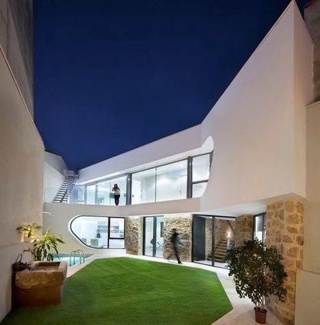 Rénovation d'une maison en pierre en une résidence contemporaine en Espagne | Construire Tendance | Dans l'actu | Doc' ESTP | Scoop.it
