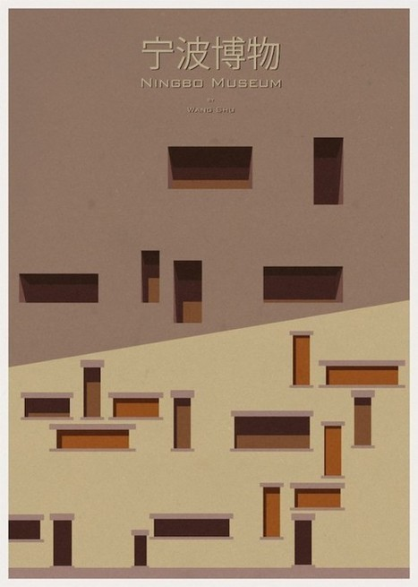 Architecture Rendered Minimally: Illustrator Turns Iconic Buildings Into Minimalist Posters | Arquitectura: Opinió. | Scoop.it