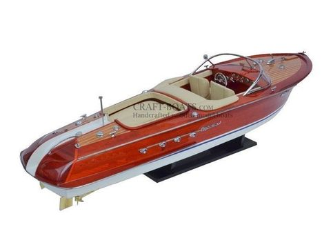 Riva Aquarama Model Boat Ship 50cm (20 inch) - Cream | Craft Boats - Handcrafted wooden boats | Scoop.it
