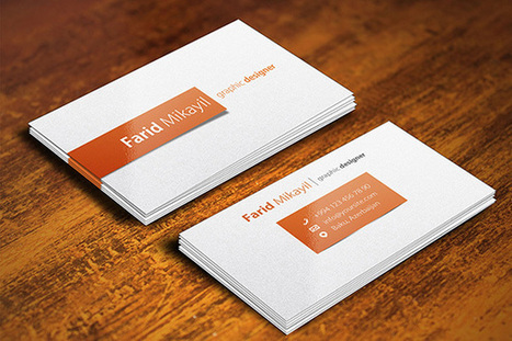 20 Free Business Card Mockup PSD Templates | Business Cards | Scoop.it