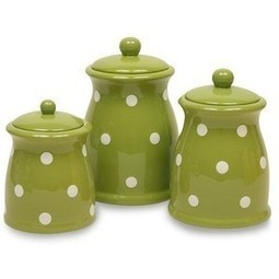 Terramoto Ceramic 3-Piece Polka Dots Canister Set | Kitchen Canister Sets | Scoop.it