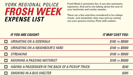 $5k ticket for streaking? Police warn frosh week rituals can be costly | Info Carousel | Scoop.it