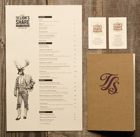 Art of the Menu: The Lion's Share | Inspired Print Design | Scoop.it