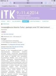 innopaja- toiminnan esittelyajankohta ITK-päivillä | Tablet opetuksessa | Scoop.it