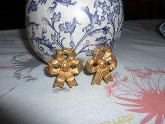 2 Antique French Bronze FINIALS RIBBONS Louis XVI Style   Meubles de style ancien   Scoop.it