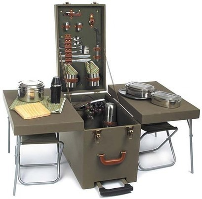 Picknick Set in wood trolley - zib-militaria.de | Military Style Stuffs | Scoop.it