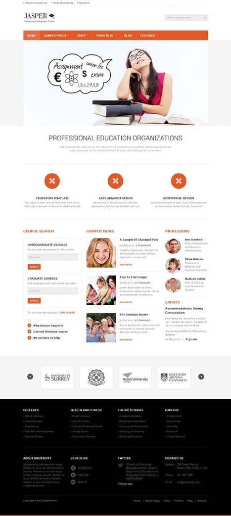 Jasper, WordPress Responsive Education / Shopping Theme | WP Download | Psicologia y Discapacidad | Scoop.it
