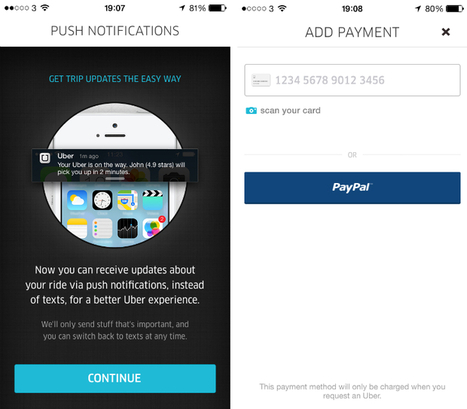 Uber Updates its iOS App with Push Notifications for Surge Pricing | Benchmark Mobile User Interface | Scoop.it