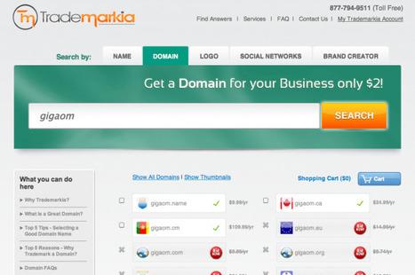 Trademarkia Takes On GoDaddy With Domain Registry Debut | Entrepreneurship, Innovation | Scoop.it