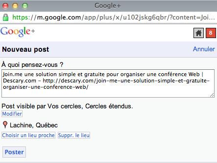 Google +: un bookmarklet qui facilite le partage du contenu. | SocialWebBusiness | Scoop.it