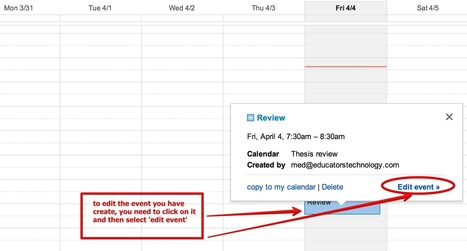 A Very Good Google Calendar Guide for Teachers | Instructional Technology Scoops | Scoop.it