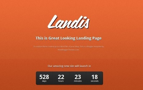 25 Best New Free Blogger Templates Released In 2013 | Spice Up Your Blog | Blogger themes | Scoop.it
