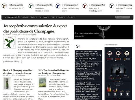 Succés en cours pour *e-champagne.info* site des producteurs de Champagne | Reims.Agency | Scoop.it