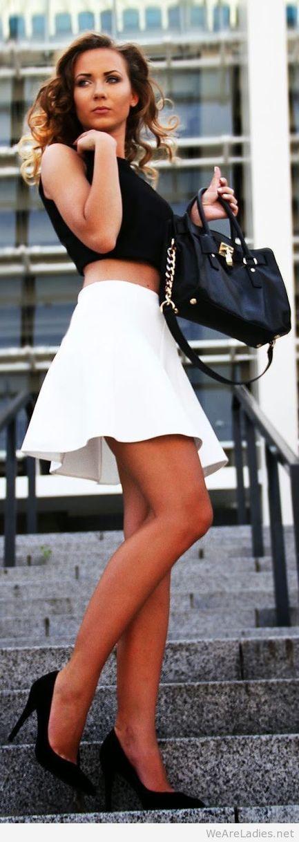 Mango White Mini Skater A-skirt   Pintast   Scoop.it