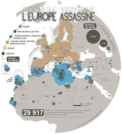 Carte. Des migrants morts par milliers aux portes de l'Europe   Enseigner l'Histoire-Géographie   Scoop.it