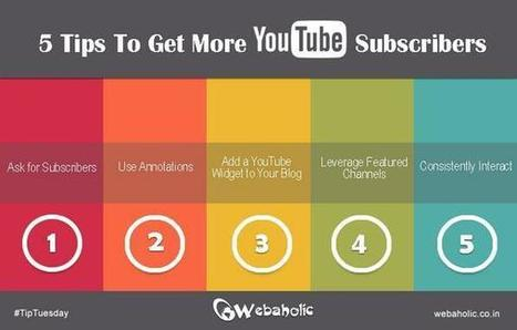 Five ways to get more YouTube subscribers | YouTube Tips and Tutorials | Scoop.it