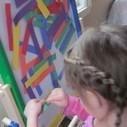Rainbow colors on the sticky easel | Teach Preschool | Scoop.it