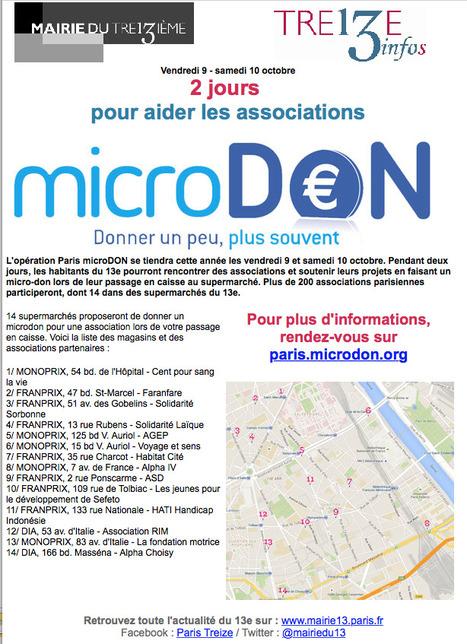 [Mairie de Paris XIIIème] 2 jours pour AIDER les associations: Vendredi 9 - samedi 10 octobre 2015 | actions de concertation citoyenne | Scoop.it