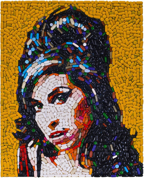 Amy Winehouse portrait made of pills, and more junk art by Jason Mecier - Telegraph | Digital Photography (Nikon) | Scoop.it