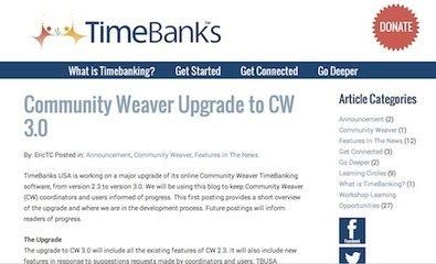 Weaving Community with TimeBanks USA: Drupal and Time-Based Alternative Currencies | Exaltation of Larks | Peer2Politics | Scoop.it