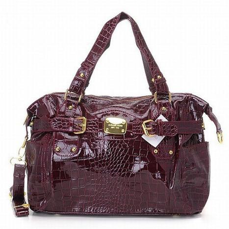 Michael Kors Crocodile Handbags Eembossed Gia Brown Womens | popular collection | Scoop.it