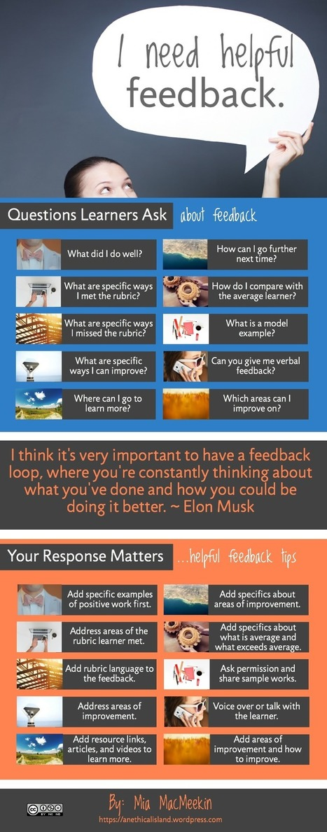 Feedback Q & A (Infographic) | Art Teachers Rock | Scoop.it