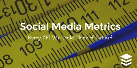 61 Social Media Metrics, Defined | Online Marketing Resources | Scoop.it