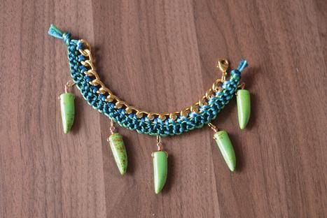 {DIY} Luxe Tooth Bracelet | DIY - jewellery  =  HTM - bijou | Scoop.it