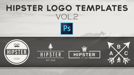 Free Hipster Logo Templates Vol.2   Freakinthecage Webdesign Lesetips   Scoop.it