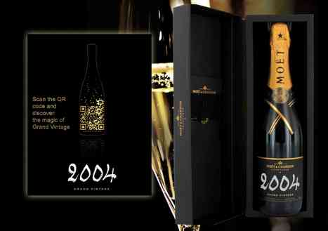 QR Code Design for the Champagne Moët & Chandon Milesime 2004 | QR Codes are beautiful | Scoop.it