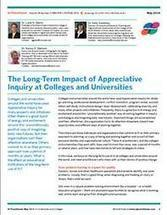 The Long-Term Impact of Appreciative Inquiry at Colleges and Universities - Introduction | Art of Hosting | Scoop.it