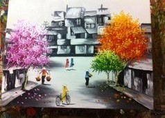 Tranh phố cổ_ Tranh sơn dầu phố cổ Hà Nội đẹp nhất | tổ chức sự kiện tại Hà NỘi | Scoop.it