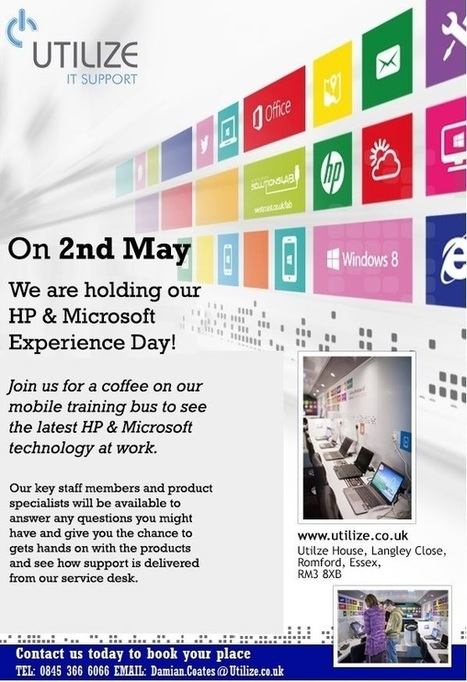 Invitation to HP & Microsoft experience day   Fav' Companies   Scoop.it