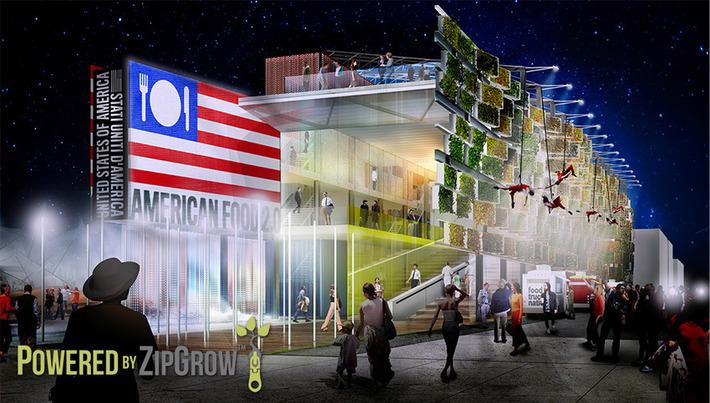 U.S. Pavilion Powered By ZipGrow - World's Fair 2015 | Almere Groene Stad | Scoop.it