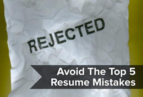 Resumonk | Avoid the top 5 resume mistakes | Resume (CV) Tips | Scoop.it