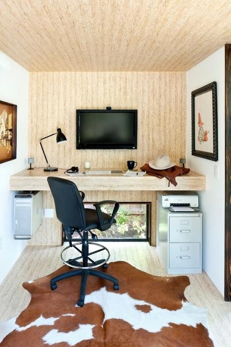 Installer un bureau de jardin en bois pour travailler   bureau de jardin   Scoop.it