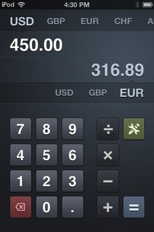 Banca: Convert Currencies Swiftly With this Beautiful iPhone App   ipad@work   Scoop.it