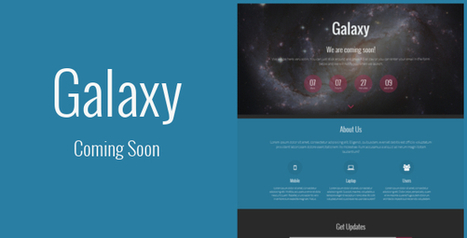 Galaxy – Responsive Coming Soon Template (Under Construction) | Best HTML Themes | Scoop.it