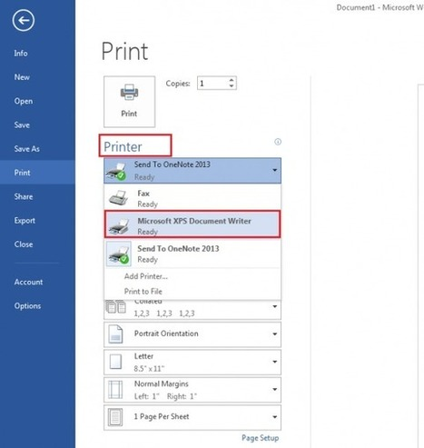 How to print to the Microsoft XPS Document Writer in Windows 7 | Time to Learn | Scoop.it