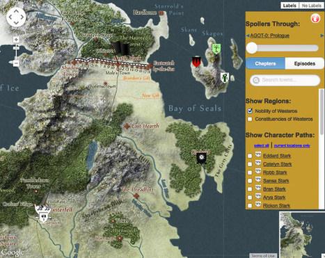 Impressive Game Of Thrones Interactive Map To Westeros   Geekologie   Vàl's scoopit   Scoop.it