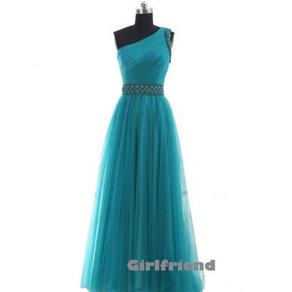 Elegant one-shoulder chiffon prom dress / homecoming dress · Girlfriend · Online Store Powered by Storenvy | DREAMER... | Scoop.it