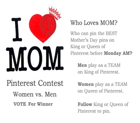 VOTE NOW: Mother's Day Pinterest Contest: Men vs Women | Curation Revolution | Scoop.it