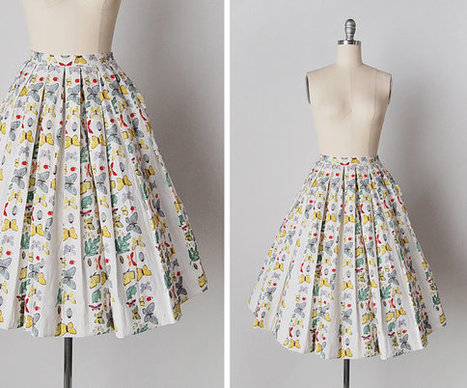 vintage 1950s skirt | whats been spotted on etsy today? | Scoop.it