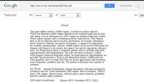 Cómo traducir documentos enteros con el Traductor de Google | Cajón de sastre Web 2.0 | Scoop.it